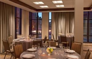 Rines A, Westin Portland Harborview, Portland — A beautiful room with floor to ceiling windows; perfect for bridal showers, rehearsal dinners or post-wedding brunches.