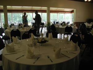Doswell Hall Complete - 8 hour block, Cedar Crest Conference Center, Green Bay — Business reception in Doswell Hall, overlooking lake and gazebo.
