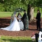 Heart 2 Heart Ceremonies, Raleigh — Samantha performs a beautiful wedding at The Oaks at Salem.