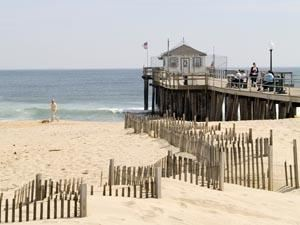 Beach Pier at Jersey Shore