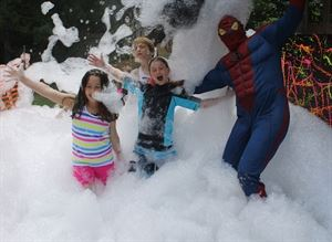 Specialty Children's Party, Wild and Crazy Hair, Sykesville — Our Foam Party Packages are great fun for all ages. Super Hero appearances available upon request.