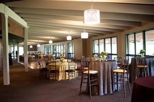 Main Ballroom, The Ballroom at Oakhurst, Grove City — The main ballroom decorated for a custom wedding.