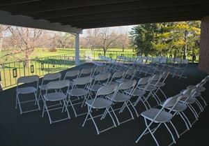 Veranda, The Ballroom at Oakhurst, Grove City — The veranda is the perfect location for an outdoor ceremony.