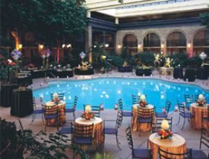Garden Courtyard, Sheraton Atlanta Hotel, Atlanta — We felt that Atlanta weddings deserved more choices of venues. And we have plenty of those. Try a refreshing twist on the contemporary in our beautiful garden courtyard.