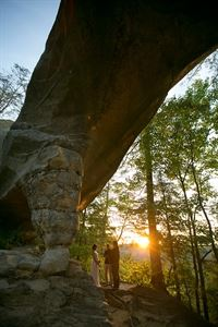 My Tiny Wedding in The Red River Gorge, Slade — Choose from one of our many beautiful ceremony sites.