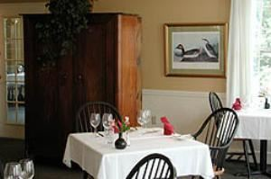 Maine Dining Room, Harraseeket Inn, Freeport — We cook with the finest Maine grown produce, seafood, and game and bake all our breads and desserts daily.