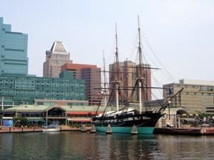 USS Constellation in the Inner Harbor, Baltimore