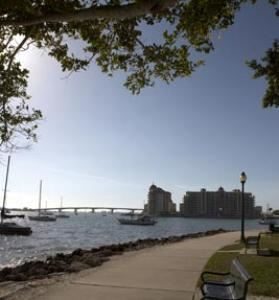 Framed view towards sarasota bay