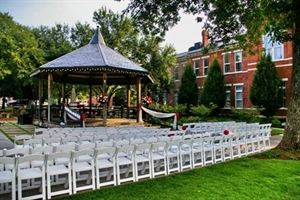 Gazebo and Grounds, Gwinnett Historic Courthouse, Lawrenceville — Gazebo wedding 150 guests