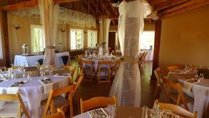 Chanticleer Loft, First Colony Winery, Charlottesville — Chanticleer Loft set for a wedding