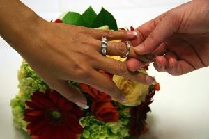 Martin Whitton Photography, Austin — Ring shot above beautiful bouquet!