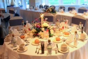 Fraser Room, Mays Landing Golf & Country Club, Mays Landing — Built in 1998, the traditional elegance of the Fraser Room is the perfect setting for weddings, bar/bat mitzvah celebrations, christenings, showers, first communion celebrations, reunions, retirements or business gatherings.