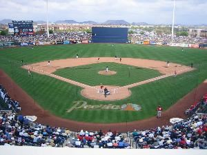 Peoria Sports Complex, Peoria — Peoria Sports Complex is the Spring Training and player development home of the San Diego Padres and Seattle Mariners. In the off-season, the facility hosts a variety of baseball and non-baseball events, such as tournaments, concerts, festivals, RV shows, home and garden expos, charity and private functions. Please visit the complex website for more information: www.peoriaaz.gov/sportscomplex