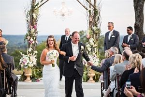 Concepts Weddings & Events, Tulsa — Gorgeous sunset ceremony at Farthing Hills Events!