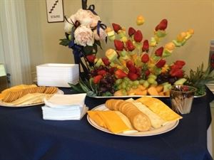 Fall Wedding Package, Dareing Events Catering Inc., Atlanta — This is one of our standard fruit and cheese displays. We have many designs to choose from, but this is the most popular.