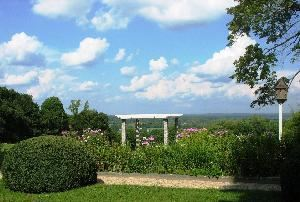 Gardens & Grounds, Tyrone Farm, Pomfret Center — The Formal Engish Garden and Pergola