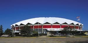 Veterans Memorial Coliseum, Alliant Energy Center, Madison — Exterior view of Veterans Memorial Coliseum at the Alliant Energy Center.