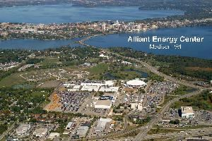 Alliant Energy Center, Madison — Aerial view of Alliant Energy Center Campus