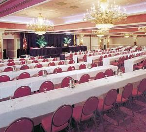 Diamond Ballroom, Trump Taj Mahal, Atlantic City — This jewel of a ballroom can be adapted to suit various events ranging from large corporate functions to small business gatherings. The brilliance of this outstanding room is showcased by its versatility. The Ballroom can be divided into four separate sections for a more personalized setting. The glittering crystalline atmosphere will ensure that your next meeting is a resounding success.