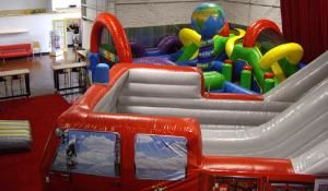 Inflatable Kingdom, Portland — Offering some of the best inflatable party entertainment in the Portland area, this amazing event center also has facility rentals available.  It can be transformed into a casino facility, a billiards/arcade hall, or just about any event space to meet your needs.