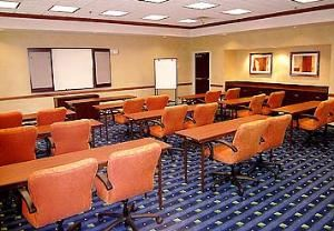 Liberty Room, SpringHill Suites Newark Liberty International Airport, Newark — Liberty Room - For function needs from hollow square to theater-style seating accommodating 30 to 100 people; assorted F&B packages available.