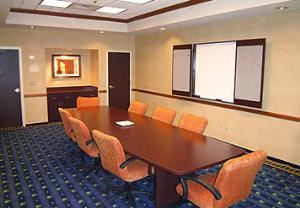 Board Room B, SpringHill Suites Newark Liberty International Airport, Newark — Boardroom - Our private, cozy meeting rooms seat 10 - 12 people and feature video data conference capabilities.