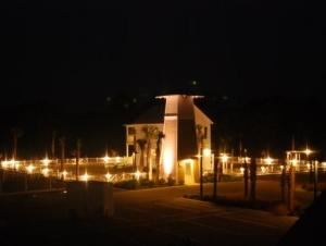 The Green At Barefoot Cottages, Port Saint Joe — The Green at night.
