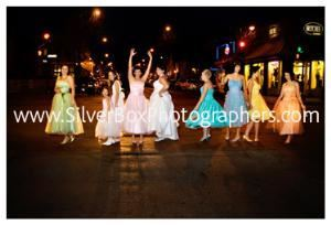 SilverBox Photographers, Columbia — vintage!~but with a whole new attitude:  prom dresses from yesteryears; shoes dyed to match. jenny + gang downtown columbia. ::: extreme wedding coverage, extreme wedding fun :::  www.SilverBoxPhotographers.com...we go where your heart takes you