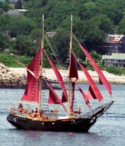 Pirate Ship Charters/Tall Ship Formidable, Rockport — Tall Ship Formidable - the best way to see Boston Harbor