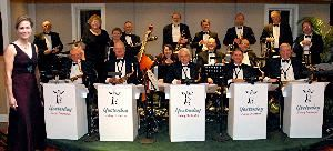 Yesterday Swing Orchestra, Winchester — The Yesterday Swing Orchestra before the fundraising dinner auction for the Blue Ridge Hospice Butterfly Ball.