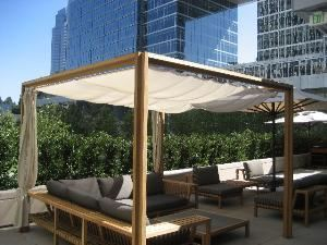 Private Dining Room & Terrace, Craft, Los Angeles — cabana off the private dining room