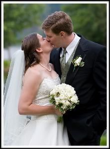 Michael Weinberg Photography, Clarks Summit — Classic Wedding Kiss. Photo taken at Paupack Hills, Paupack, Pennsylvania.