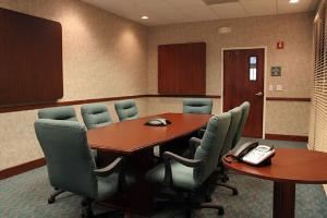Boardroom I, Hampton Inn Cocoa Beach, Cocoa Beach — With seating for up to ten the boardroom is a perfect location for meetings