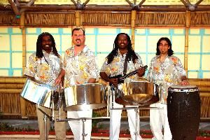 "Panjive Steel Drum Entertainment, Long Beach — The PANJIVE sound is an intoxicating blend of Calypso, Reggae, and Contemporary music that always incorporates the unique island sounds of the ""Steel Drum.""
