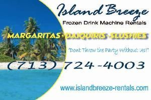 Island Breeze Frozen Drink / Margarita Machine Rentals in Houston Katy Sugar Land, Houston — ISLAND BREEZE FROZEN DRINK MACHINE RENTALS