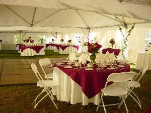 Catering Services Unlimted, Brick — Outdoor Wedding Reception with Tent, 160 Guests October 2007