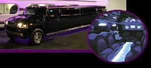 Black Star Limo, Miami — 2008 Hummer H2 up to 22 passengers. This limousine has a multicolor changing disco floor, CD/DVD player, neon lights, laser show, high sound system, karaoke, wet bar (sodas, bottled water and ice), the Hummer also has PS2, smoke machine, plasma tv and many more.