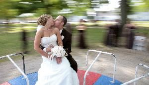 Krupinski Photography, Hilliard — Playgrounds and Parks are a great place to stop between your Ceremony and Reception-and I include it with EVERY Wedding Package!
