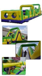 Bounce Around Inflatables, Sioux Falls — Squeeze, crawl, climb, and slide to the finish line.  Race your buddy though this 68' long obstacle course to see who is fastest.