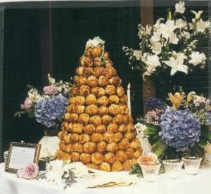 Savoy Catering, Canton — Croquembouche (traditional french wedding cake) for 200 guests