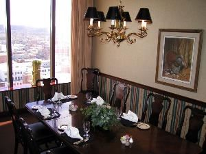 Palor D, The Metropolitan Club, Covington — Your next conference or workgroup meeting will benefit from the focused and purposeful character of Parlor D. Looking directly into Covington and the rolling hills of Kentucky, the room works efficiently for A/V, meals and versatile seating arrangements