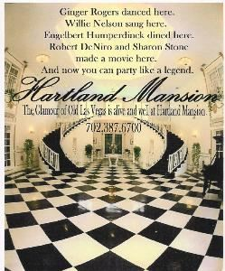 Banquet Room, Hartland Mansion, Las Vegas — The Grand Entry Hall at Hartland Mansion.