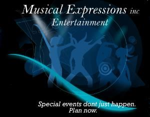 Musical Expressions Inc., Deltona — Music from the 1940's swing era to Today's top hits.From Weddings to High School Dances. DJ, Live Band or Karaoke.  Photography or Recording.  Special Events don't just happen.  Plan Now !!!