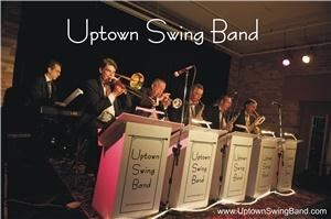 "Uptown Swing Band, Toronto — The Uptown Swing Band is a Toronto based 10-piece ""Little Big Band"" whose repertoire celebrates the best swing music from three decades. With both male and female vocalists to draw upon, the Uptown Swing Band faithfully recreates wartime favourites from the swing-era 40s, jump and jive music from the fabulous 50s, and Rat Pack performances from the swingin' 60s, plus a few Ballroom Classics in every memorable show. 