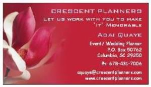 CRESCENT PLANNERS, Lexington — Social services : Weddings, Birthday celebrations, Graduations, Picnic, Showers, Engagements, Anniversaries etc