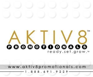AKTIV8 Promotionals, Simi Valley — ALL YOUR PROMOTIONAL NEEDS FOR ANY EVENT/OCCASION:  Custom  eco-friendly items, gift bags, banners, fliers, step & repeats, gift boxes, bottled water, energy drinks, candles, apparel, accessories, screen printing, embroidery, table covers & runners, kay chains, lanyards, writing materials, golf balls, and MUCH MUCH MORE!