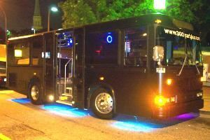 360 Party Bus, Asheville — Our partybuses are 30 feet long, with ceilings over 6 foot,  and having perimeter seating for up to 20 guests comfortably. They are also built with an extremely short turning radius to make downtown cruising a breeze!
