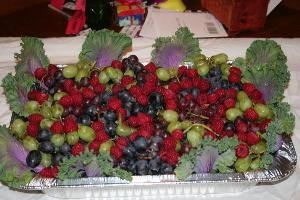 YB Hungry Catering, Fairfield — Raspberries and Grapes Platter