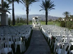 Gazebo, Sierra Lakes Golf Club, Fontana — Outdoor wedding gazebo and wedding garden.