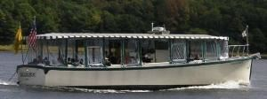 "Long Reach Cruises, Bath — The ""Sagadahoc"" our award winning cruise boat operates from Historic Bath on the Kennebec River and Coastal Maine Waters."